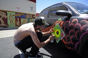 Eyemax Threedee paints a car