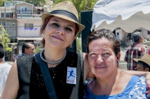 Gabriela Posada del Real and Camino Verde community leader Alma Teresa Carrillo